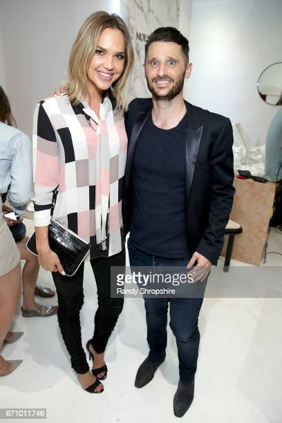 Actress Arielle Kebbel and Paul Davidge attend Not So General Presents 'Transmutation' an inaugural show and the debut of new Terrazzo Work by Carly...