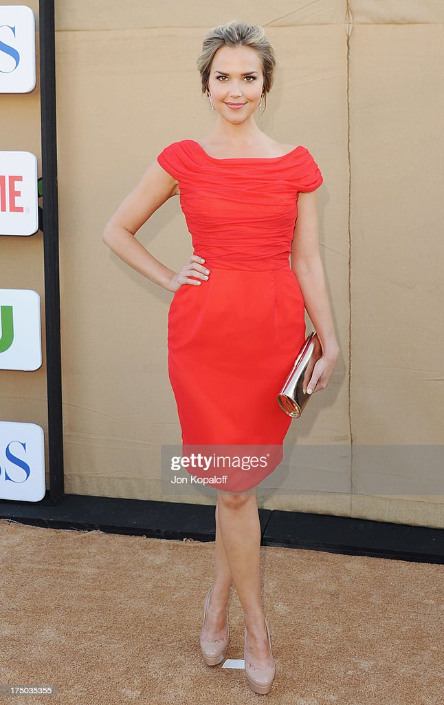 Actress Arielle Kebbel arrives at the 2013 Television Critic Association's Summer Press Tour - CBS, The CW, Showtime Party at The Beverly Hilton Hotel on July 29, 2013 in Beverly Hills, California.