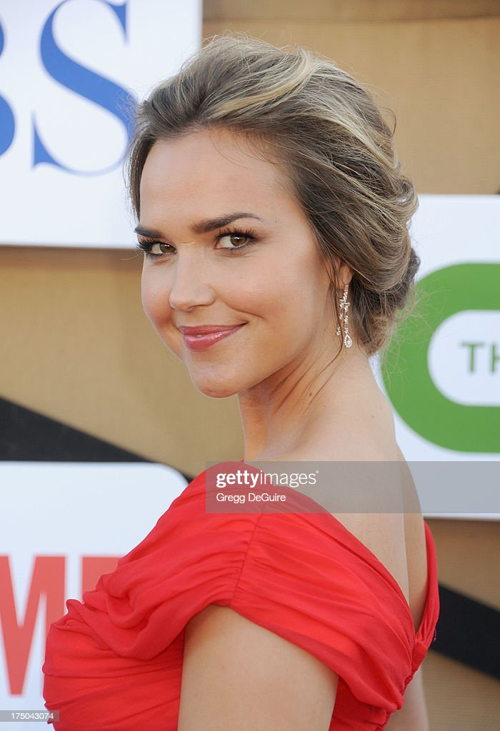 Actress <a gi-track='captionPersonalityLinkClicked' href=/galleries/search?phrase=Arielle+Kebbel&family=editorial&specificpeople=207049 ng-click='$event.stopPropagation()'>Arielle Kebbel</a> arrives at the CBS/CW/Showtime Television Critic Association's summer press tour party at 9900 Wilshire Blvd on July 29, 2013 in Beverly Hills, California.