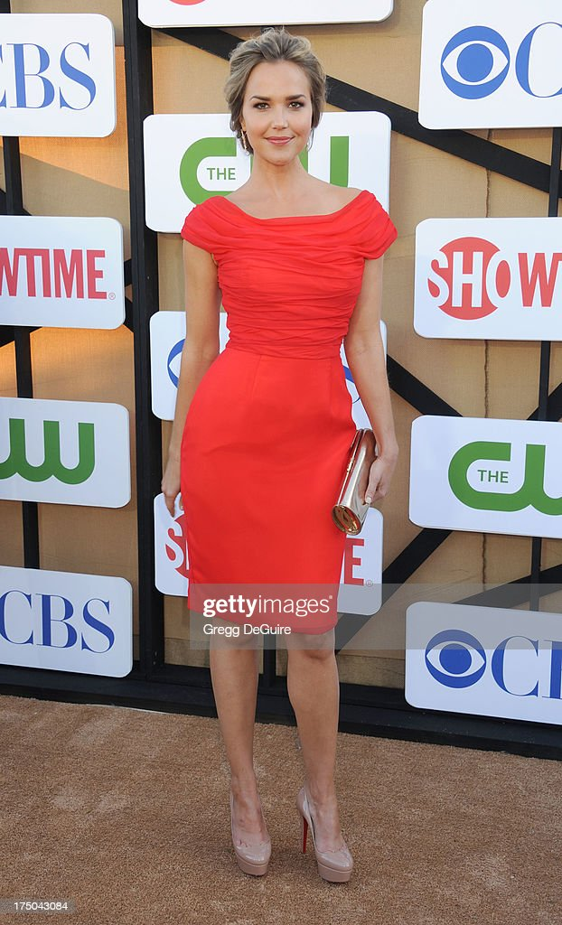 Actress Arielle Kebbel arrives at the CBS/CW/Showtime Television Critic Association's summer press tour party at 9900 Wilshire Blvd on July 29, 2013 in Beverly Hills, California.