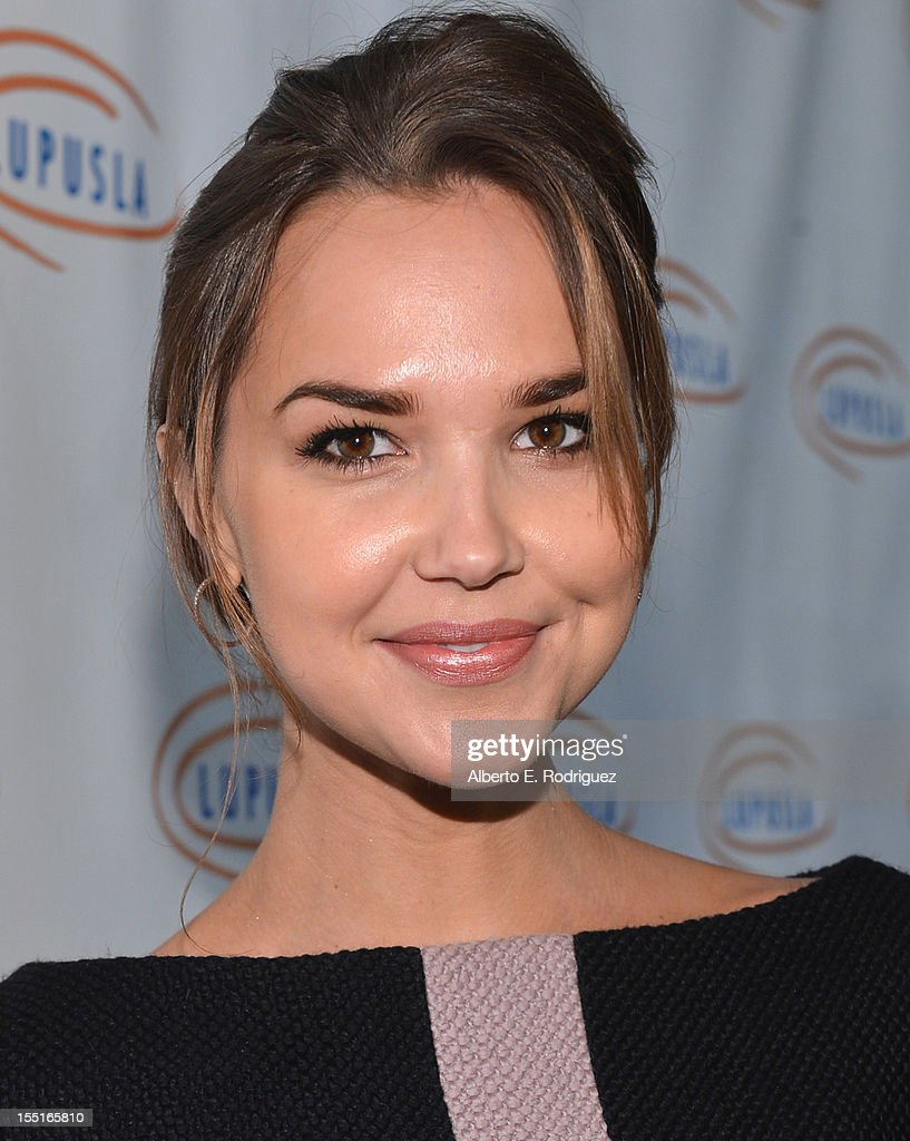 Actress Arielle Kebbel arrives to the Lupus LA 10th Anniversary Hollywood Bag Ladies Luncheon at Regent Beverly Wilshire Hotel on November 1, 2012 in Beverly Hills, California.