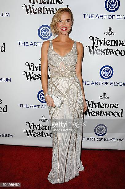 Actress Arielle Kebbel attends Art of Elysium's 9th annual Heaven Gala at 3LABS on January 9 2016 in Culver City California