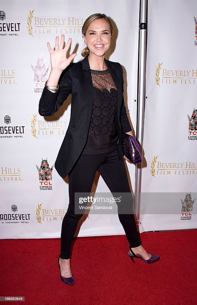 Actress Arielle Kebbel attends the 13th Annual Beverly Hills Film Festival opening night gala at TCL Chinese Theatre on May 8, 2013 in Hollywood, California.