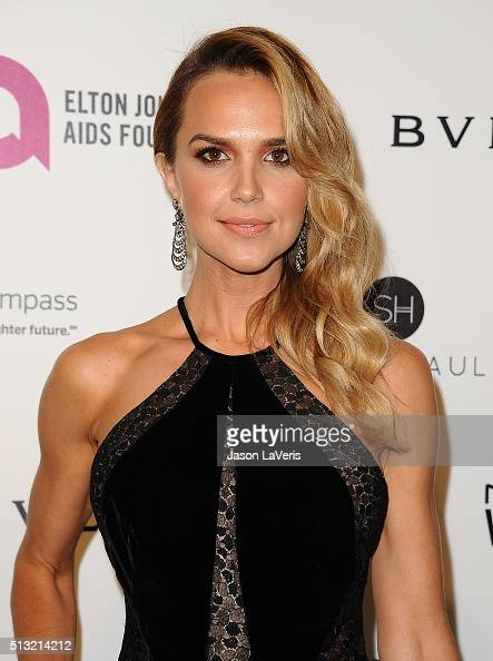 Actress Arielle Kebbel attends the 24th annual Elton John AIDS Foundation's Oscar viewing party on February 28 2016 in West Hollywood California