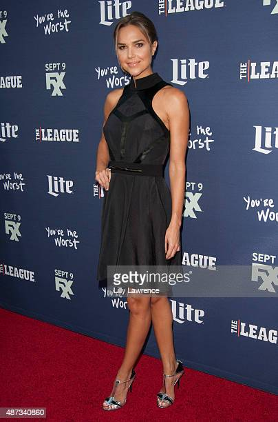 Actress Arielle Kebbel attends the premiere of FXX's 'The League' Final Season and 'You're The Worst' 2nd Season at Regency Bruin Theater on...