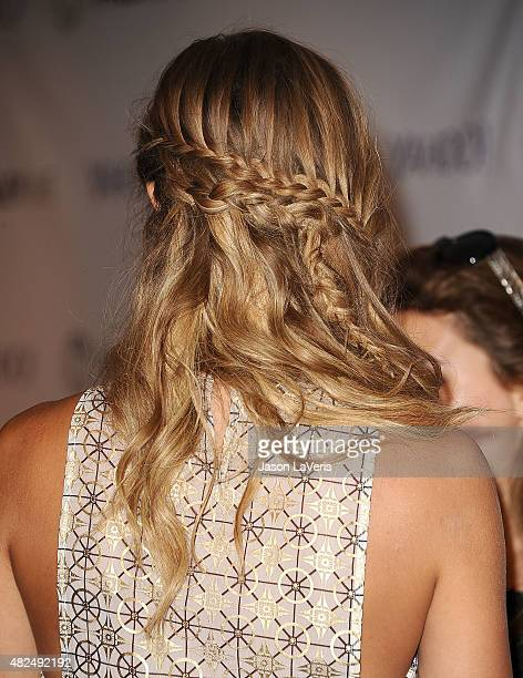 Actress Arielle Kebbel hair detail attends an evening with Lifetime's 'UnREAL' at The Paley Center for Media on July 30 2015 in Beverly Hills...