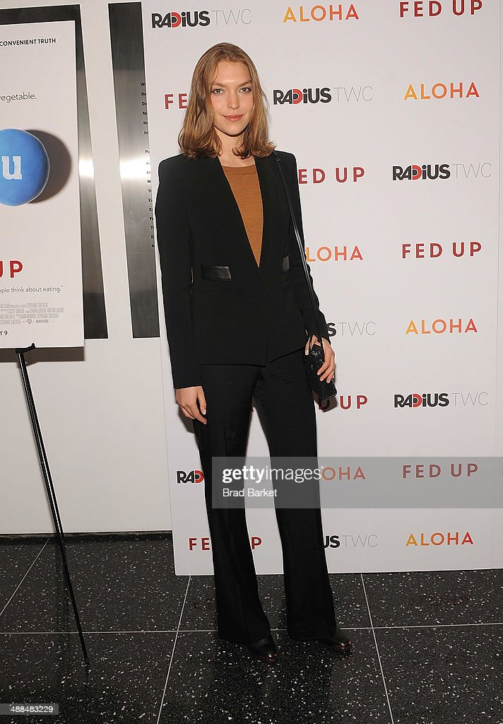 Actress <a gi-track='captionPersonalityLinkClicked' href=/galleries/search?phrase=Arizona+Muse&family=editorial&specificpeople=7109685 ng-click='$event.stopPropagation()'>Arizona Muse</a> attends 'Fed Up' premiere at Museum of Modern Art on May 6, 2014 in New York City.