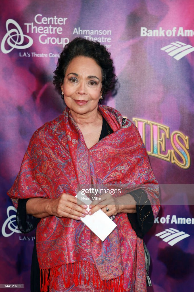 Actress <a gi-track='captionPersonalityLinkClicked' href=/galleries/search?phrase=Arlene+Martel&family=editorial&specificpeople=726909 ng-click='$event.stopPropagation()'>Arlene Martel</a> arrives for the opening night performance of 'Follies' at Center Theatre Group/Ahmanson Theatre on May 9, 2012 in Los Angeles, California.
