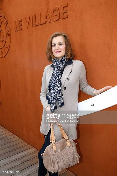 Actress Armelle attends the 2015 Roland Garros French Tennis Open Day Three on May 26 2015 in Paris France