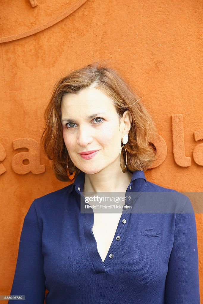 Actress Armelle Lesniak, dressed in Lacoste, attends the 2016 French Tennis Open - Day Three at Roland Garros on May 24, 2016 in Paris, France.