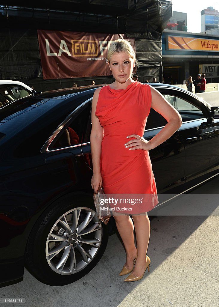 Actress arrives at Focus Features' Premiere of 'Seeking A Friend For The End Of The World' at LA Live on June 18, 2012 in Los Angeles, California.