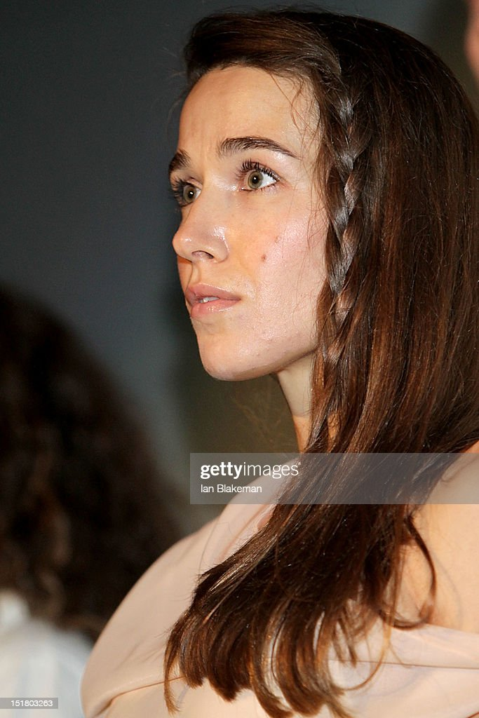 Actress <a gi-track='captionPersonalityLinkClicked' href=/galleries/search?phrase=Arta+Dobroshi&family=editorial&specificpeople=5349596 ng-click='$event.stopPropagation()'>Arta Dobroshi</a> on stage at the 'Three Worlds' Premiere during the 2012 Toronto International Film Festival at the Scotiabank Theatre on September 11, 2012 in Toronto, Canada.