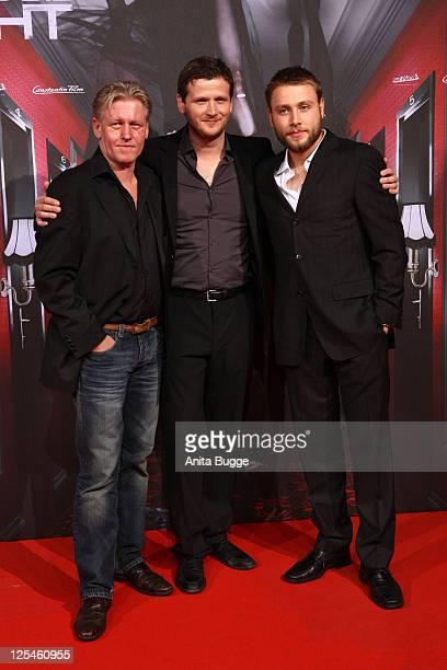 Actress Arved Birnbaum director Dennis Gansel and actor Max Riemelt attend the 'Wir sind die Nacht' Premiere at Kino in der Kulturbrauerei on October...