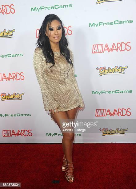 Actress Asa Akira arrives at the 2017 Adult Video News Awards held at the Hard Rock Hotel Casino on January 21 2017 in Las Vegas Nevada