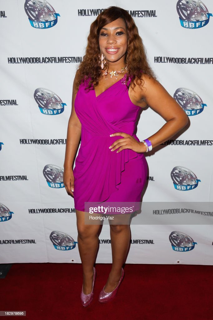 Actress Ashanna Bri attends the Opening Night for the Hollywood Black Film Festival (HBFF) Arrivals at The Ricardo Montalban Theatre on October 2, 2013 in Hollywood, California.