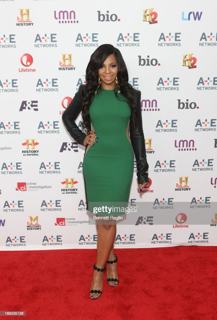 Actress <a gi-track='captionPersonalityLinkClicked' href=/galleries/search?phrase=Ashanti&family=editorial&specificpeople=146300 ng-click='$event.stopPropagation()'>Ashanti</a> attends the 2013 A+E Networks Upfront at Lincoln Center on May 8, 2013 in New York City.