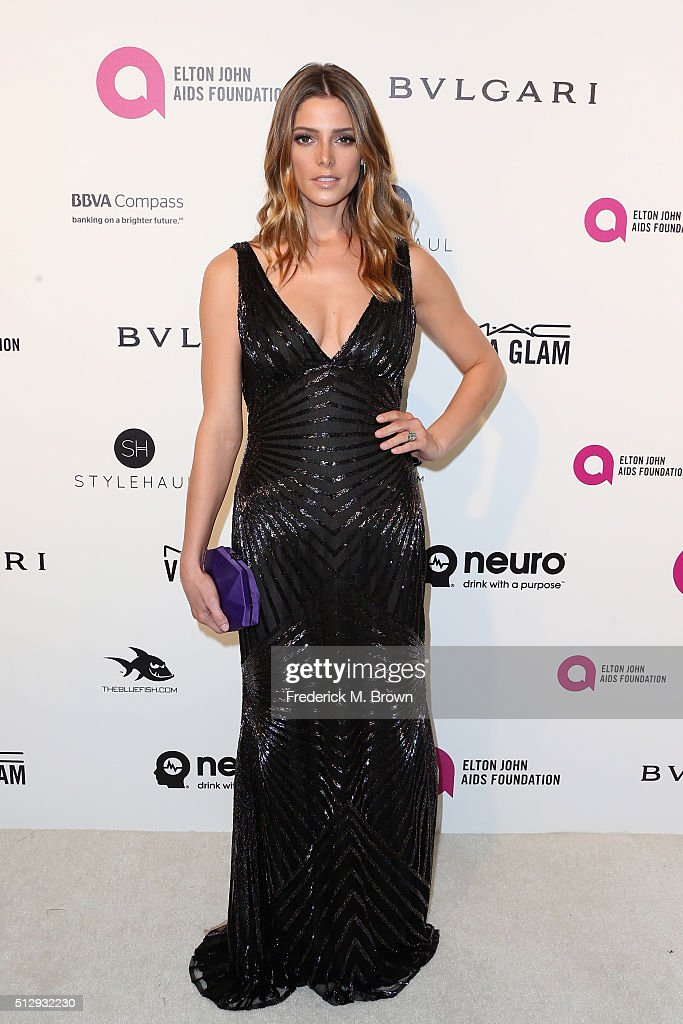 Actress Ashely Greene attends the 24th Annual Elton John AIDS Foundation's Oscar Viewing Party on February 28 2016 in West Hollywood California