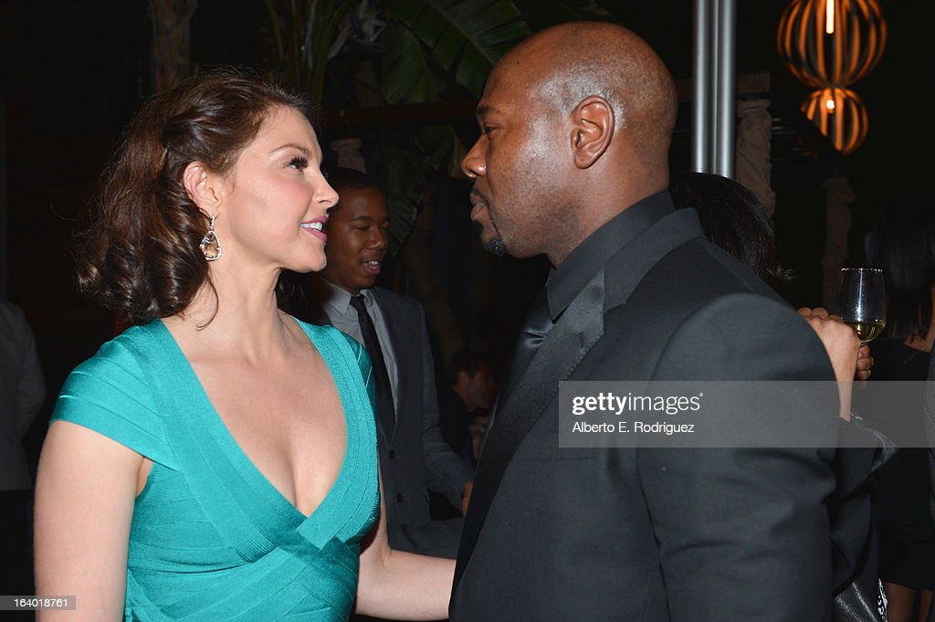 Actress Ashely Judd and director <a gi-track='captionPersonalityLinkClicked' href=/galleries/search?phrase=Antoine+Fuqua&family=editorial&specificpeople=2480782 ng-click='$event.stopPropagation()'>Antoine Fuqua</a> attend the after party for the premiere of FilmDistrict's 'Olympus Has Fallen' at Lure on March 18, 2013 in Hollywood, California.
