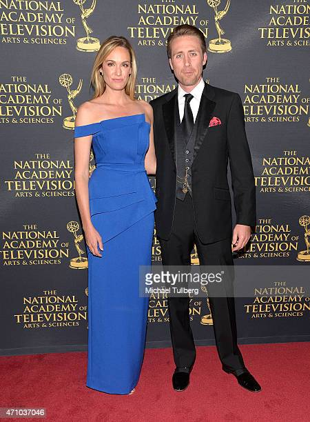Actress Ashlan Gorse and Philippe Cousteau Jr attend the 42nd Annual Daytime Creative Arts Emmy Awards at Universal Hilton Hotel on April 24 2015 in...