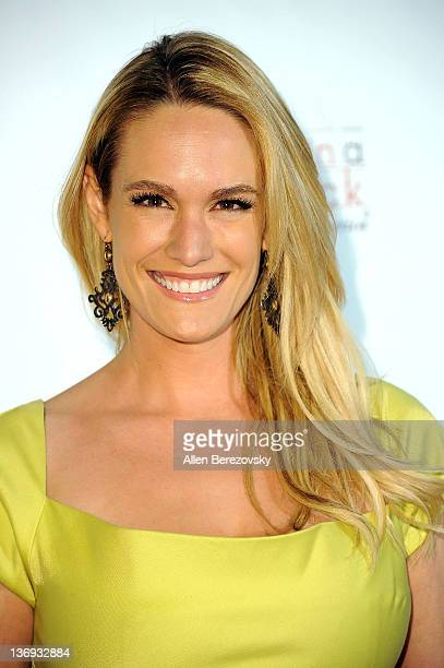 Actress Ashlan Gorse arrives at the Los Angeles Derby prelude party at The London Hotel on January 12 2012 in West Hollywood California