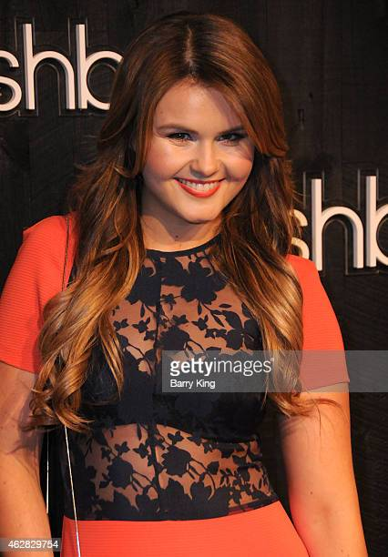 Actress Ashlee Keating arrives at Smashbox Studios Grand ReOpening Party at Smashbox Studios on February 5 2015 in Culver City California