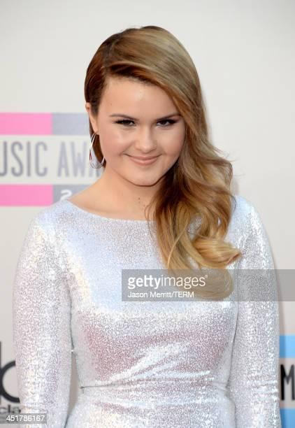 Actress Ashlee Keating attends the 2013 American Music Awards at Nokia Theatre LA Live on November 24 2013 in Los Angeles California