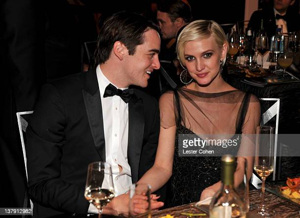 Actress Ashlee Simpson and Vincent Piazza attend The 18th Annual Screen Actors Guild Awards broadcast on TNT/TBS at The Shrine Auditorium on January...