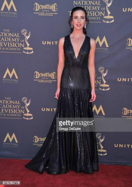 Actress Ashleigh Brewer arrives at the 44th Annual Daytime Emmy Awards at Pasadena Civic Auditorium on April 30 2017 in Pasadena California