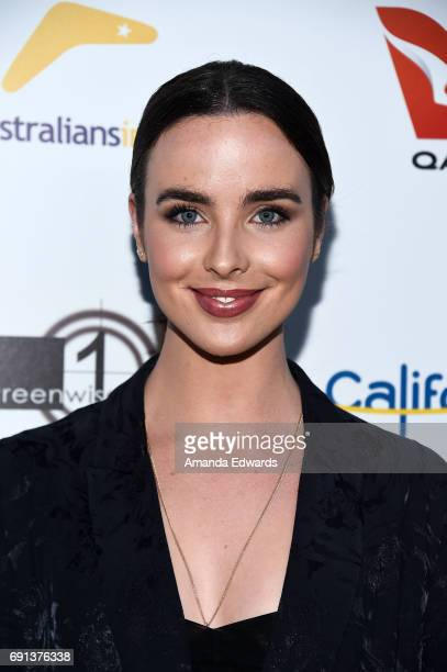 Actress Ashleigh Brewer arrives at The 9th Annual Australians In Film Heath Ledger Scholarship Dinner at the Sunset Marquis Hotel on June 1 2017 in...