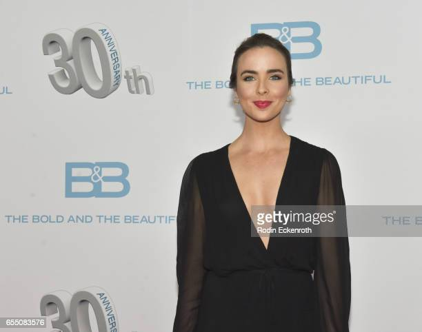 Actress Ashleigh Brewer attends CBS's 'The Bold and The Beautiful' 30th Anniversary Party at Clifton's Cafeteria on March 18 2017 in Los Angeles...