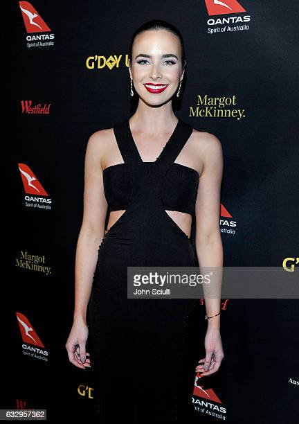 Actress Ashleigh Brewer attends the 2017 G'Day Black Tie Gala at Governors Ballroom At Hollywood And Highland on January 28 2017 in Hollywood...
