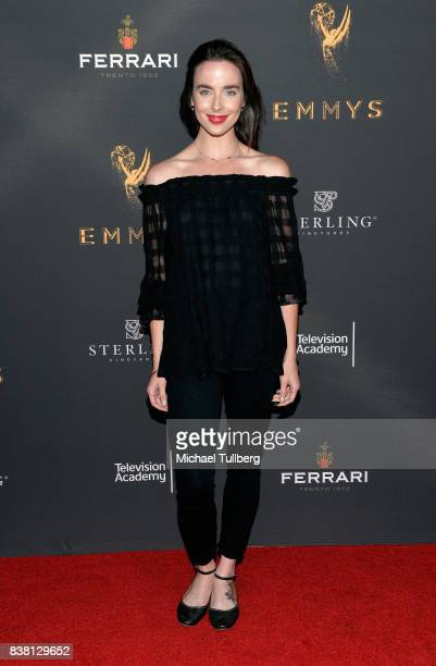 Actress Ashleigh Brewer attends the Television Academy's cocktail reception with stars of daytime television celebrating the 69th Emmy Awards at...