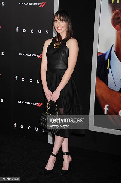 Actress Ashleigh Brewer attends the Warner Bros Pictures' 'Focus' premiere at TCL Chinese Theatre on February 24 2015 in Hollywood California