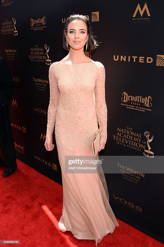 Actress Ashleigh Brewer walks the red carpet at the 43rd Annual Daytime Emmy Awards at the Westin Bonaventure Hotel on May 1, 2016 in Los Angeles, California.