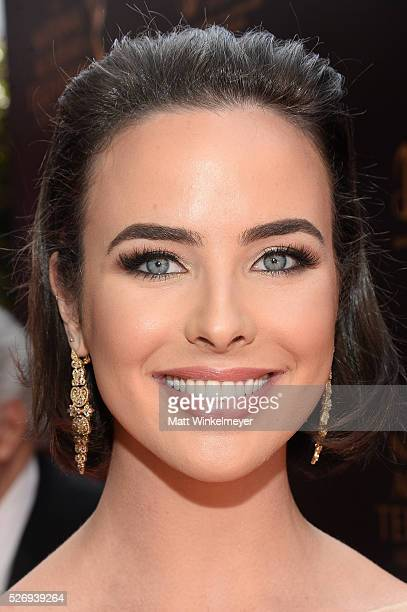 Actress Ashleigh Brewer walks the red carpet at the 43rd Annual Daytime Emmy Awards at the Westin Bonaventure Hotel on May 1 2016 in Los Angeles...