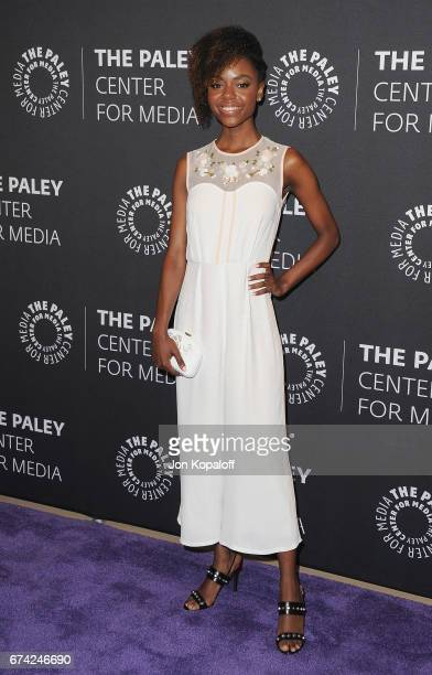 Actress Ashleigh Murray arrives at the 2017 PaleyLive LA Spring Season 'Riverdale' Screening And Conversation at The Paley Center for Media on April...