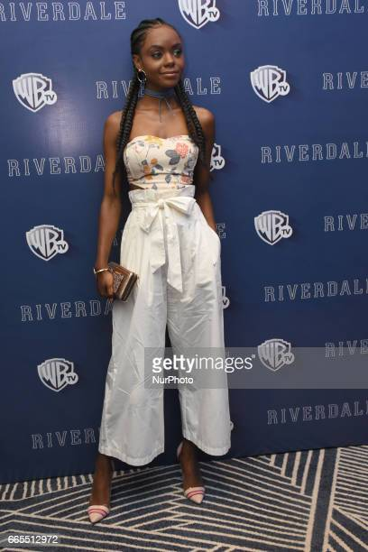 Actress Ashleigh Murray poses during a photocall to promote Riverdale Tv Series at Four Season Hotel on April 06 2017 in Mexico City Mexico