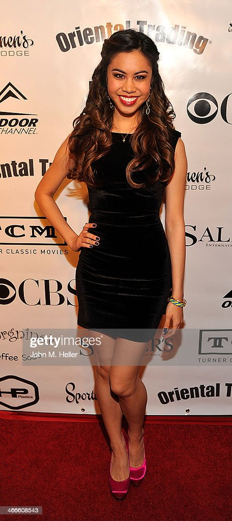 Actress <a gi-track='captionPersonalityLinkClicked' href=/galleries/search?phrase=Ashley+Argota&family=editorial&specificpeople=5626349 ng-click='$event.stopPropagation()'>Ashley Argota</a> attends the 2nd annual Borgnine Movie Star Gala honoring actor Joe Mantegna at the Sportman's Lodge on February 1, 2014 in Studio City, California.