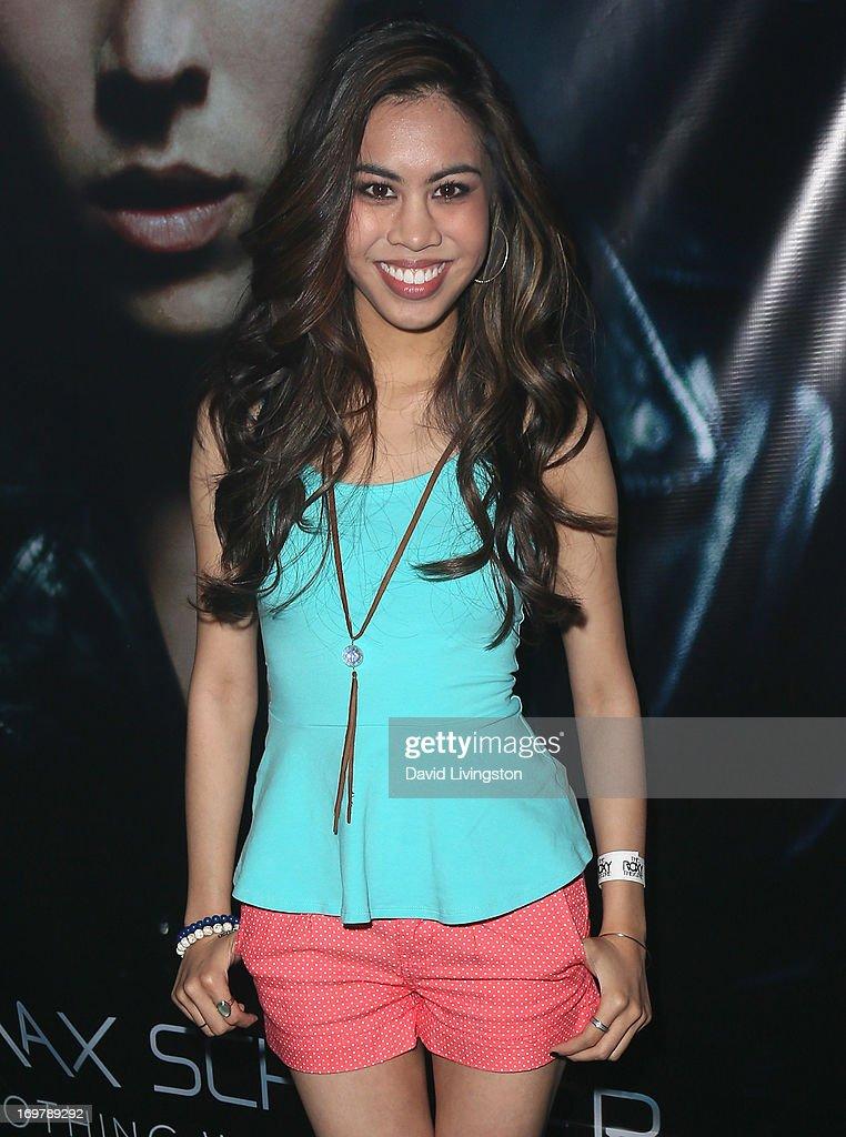 Actress Ashley Argota attends the kickoff for Max Schneider's 'Nothing Without Love' summer tour at the Roxy Theatre on June 1, 2013 in West Hollywood, California.