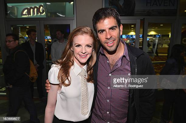 Actress Ashley Bell and producer Eli Roth attend a special screening of CBS Films' 'The Last Exorcism Part II' at AMC 16 on February 28 2013 in...