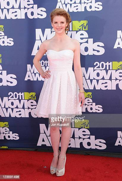 Actress Ashley Bell arrives at the 2011 MTV Movie Awards at Gibson Amphitheatre on June 5 2011 in Universal City California