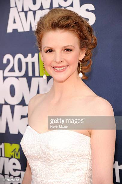 Actress Ashley Bell arrives at the 2011 MTV Movie Awards at Universal Studios' Gibson Amphitheatre on June 5 2011 in Universal City California