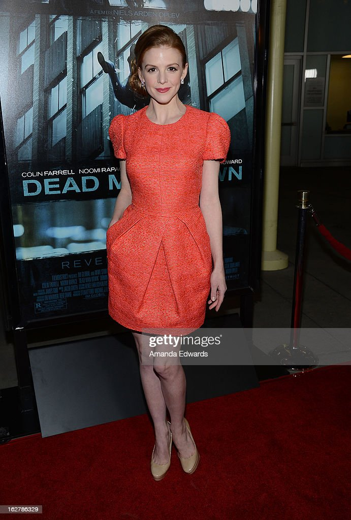 Actress Ashley Bell arrives at the Los Angeles Premiere of 'Dead Man Down' at ArcLight Hollywood on February 26, 2013 in Hollywood, California.