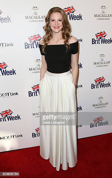 Actress Ashley Bell attends BritWeek's 10th Anniversary with a performance of 'Muder Lust and Madness' at the Wallis Annenberg Center for the...