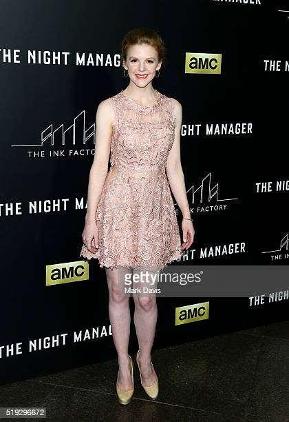 Actress Ashley Bell attends the premiere of AMC's 'The Night Manager' at DGA Theater on April 5 2016 in Los Angeles California
