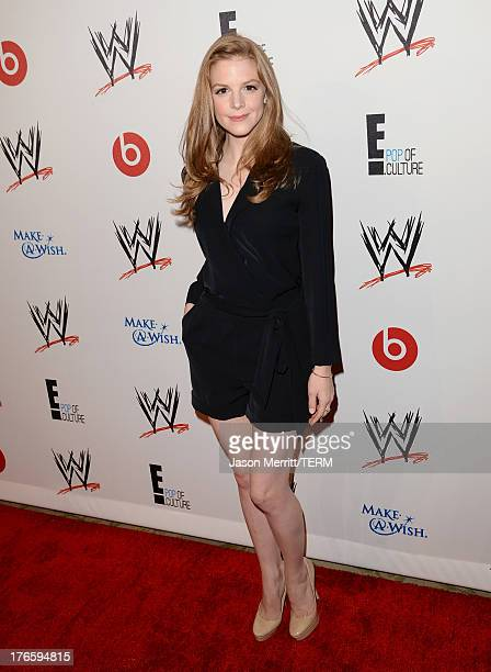 Actress Ashley Bell attends WWE E Entertainment's 'SuperStars For Hope' at the Beverly Hills Hotel on August 15 2013 in Beverly Hills California