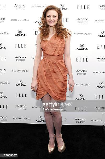 Actress Ashley Bell in the ELLE green room during the 2011 Film Independent Spirit Awards at Santa Monica Beach on February 26 2011 in Santa Monica...