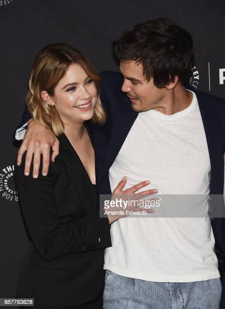 Actress Ashley Benson and actor Tyler Blackburn attend The Paley Center For Media's 34th Annual PaleyFest Los Angeles 'Pretty Little Liars' screening...