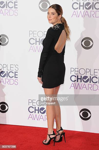 Actress Ashley Benson arrives at People's Choice Awards 2016 at Microsoft Theater on January 6 2016 in Los Angeles California