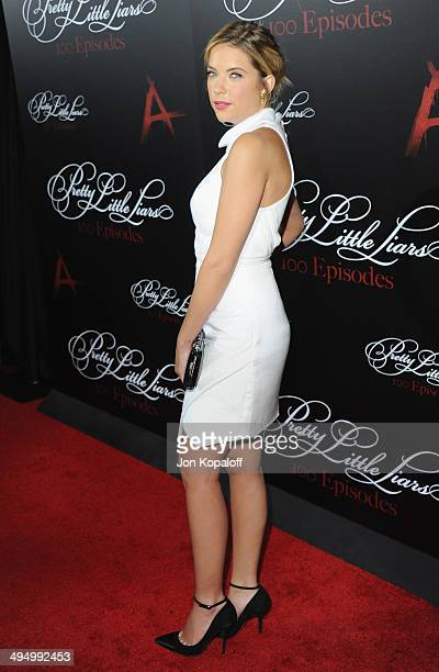 Actress Ashley Benson arrives at 'Pretty Little Liars' Celebrates 100 Episodes at W Hollywood on May 31 2014 in Hollywood California